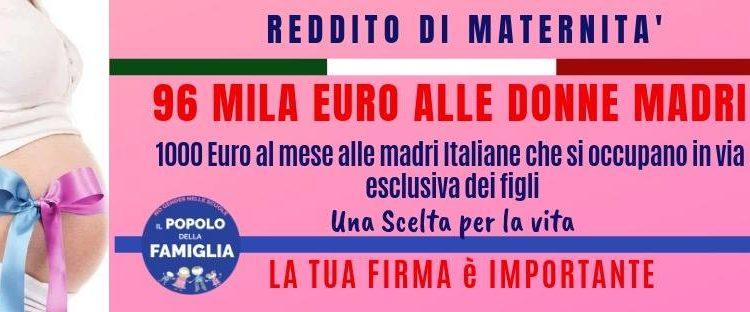 REDDITO DI MATERNITA': VIENI A FIRMARE!