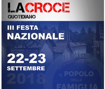 """PdF: """"III Festa Nazionale del quotidiano La Croce a Camaldoli (AR)."""""""